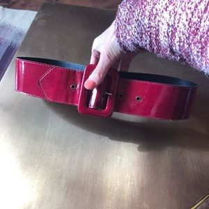 Accessories - Red Patent Leather Belt